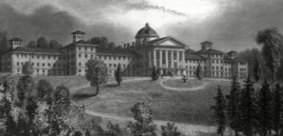 Drawing of the Jersey Trenton Psychiatric Hospital