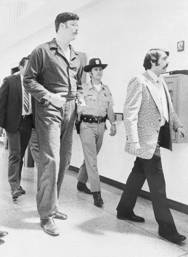 Edmund Kemper being escorted to prioson with guards