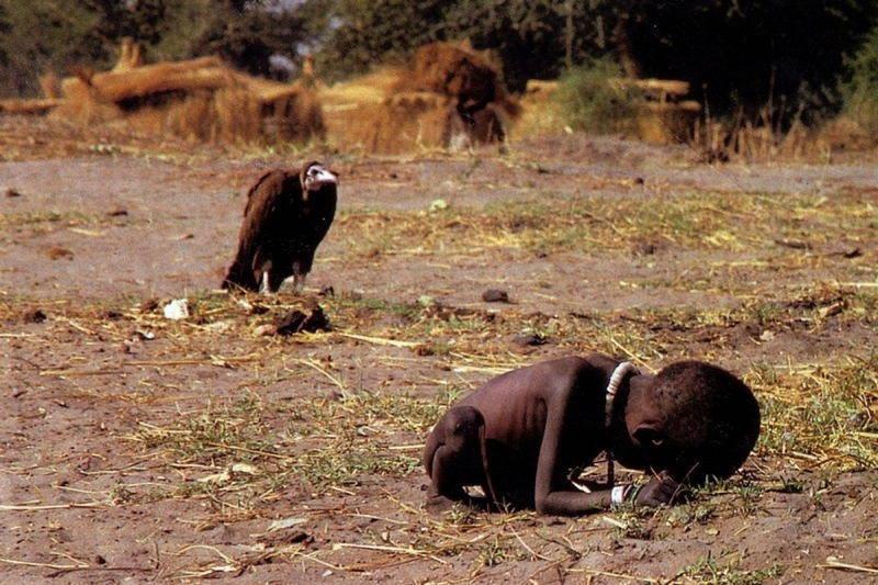 Vulture Near Little Child