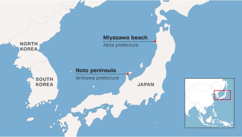 Korea Japan Map Boat