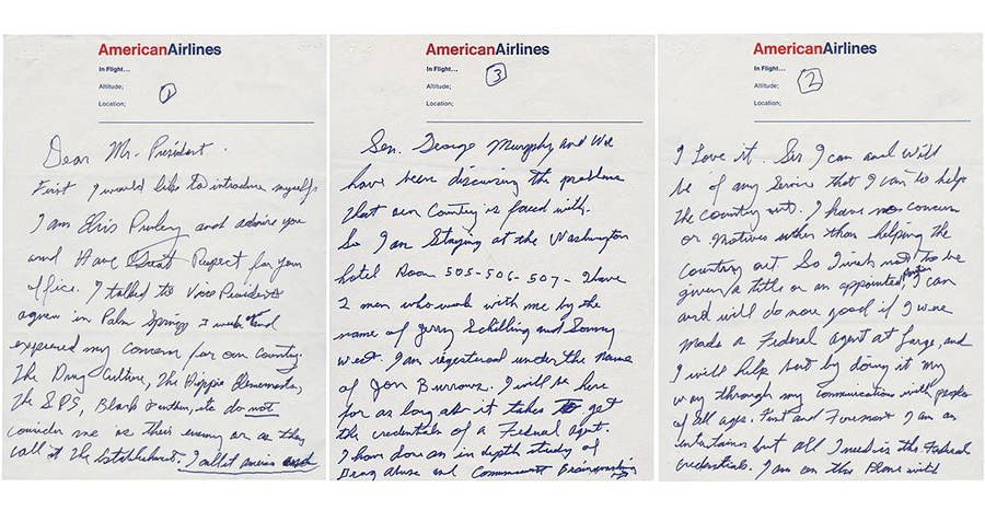 Elvis' Letters To Richard Nixon