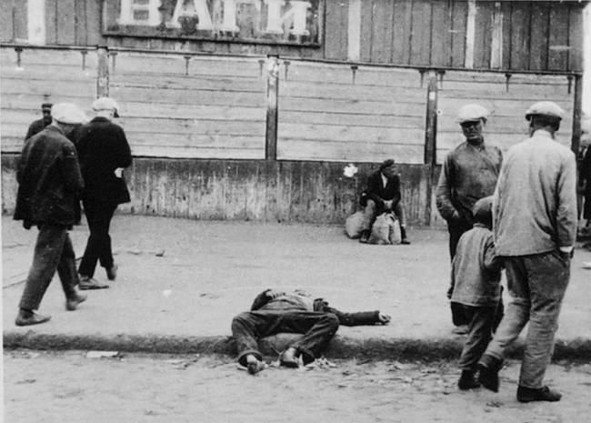 Man Starving During Holodomor