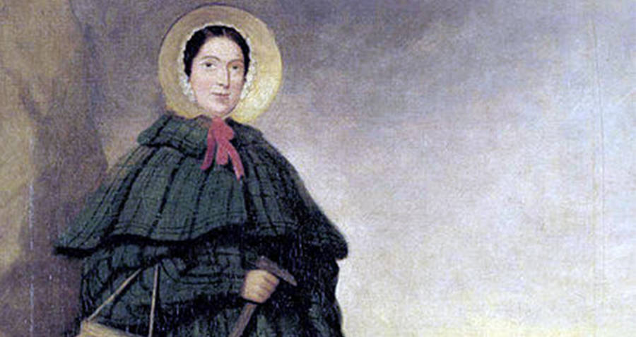 Painting of Mary Anning