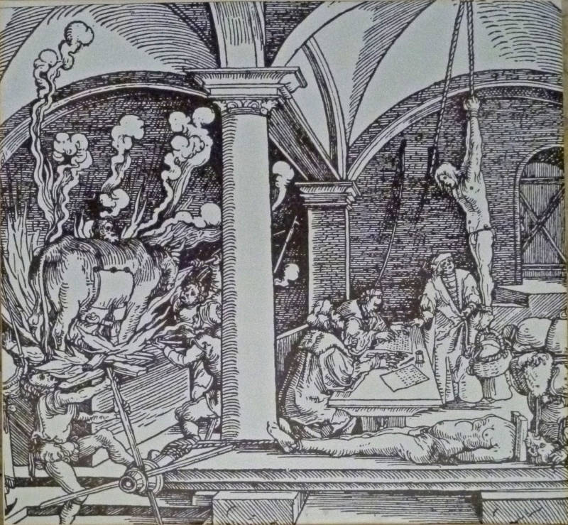 Medieval torture drawing