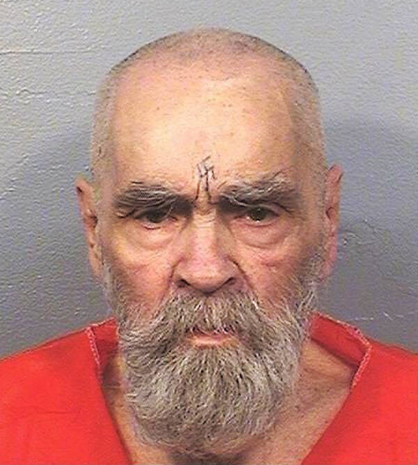 Mugshot Taken Before Charles Manson's Death