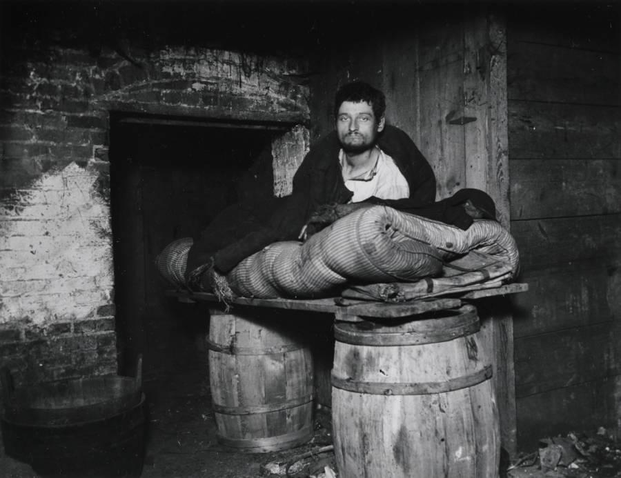 Peddler In A Cellar