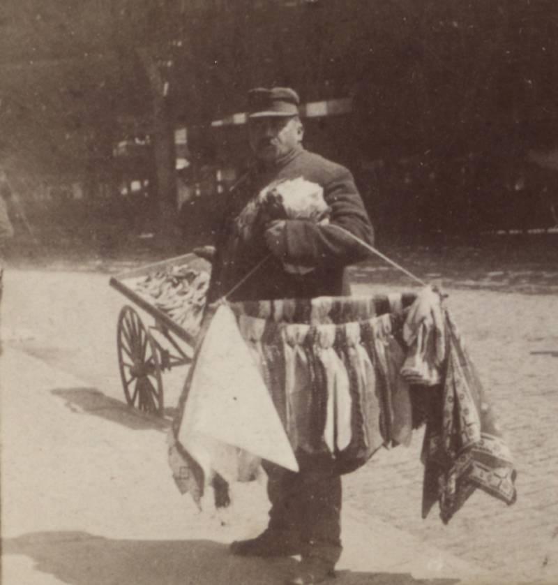 Man Peddling Ties On Bowery