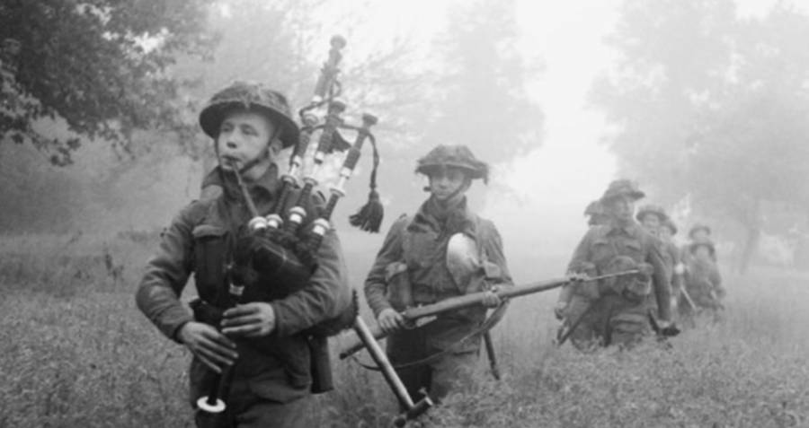 Playing Bagpipes During World War 2