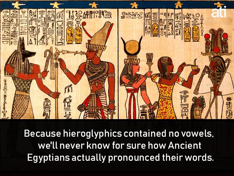 Pronounciation Of Hieroglyphics