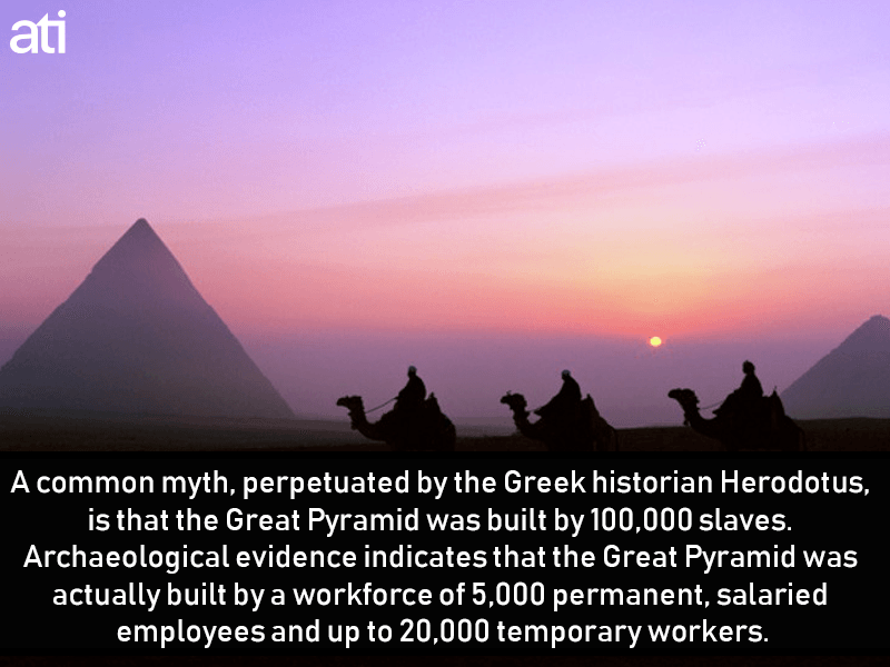 Pyramids Werent Built By Slaves