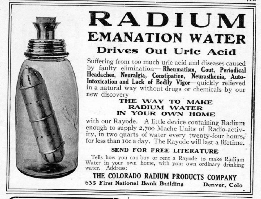 Ad For Radium Water