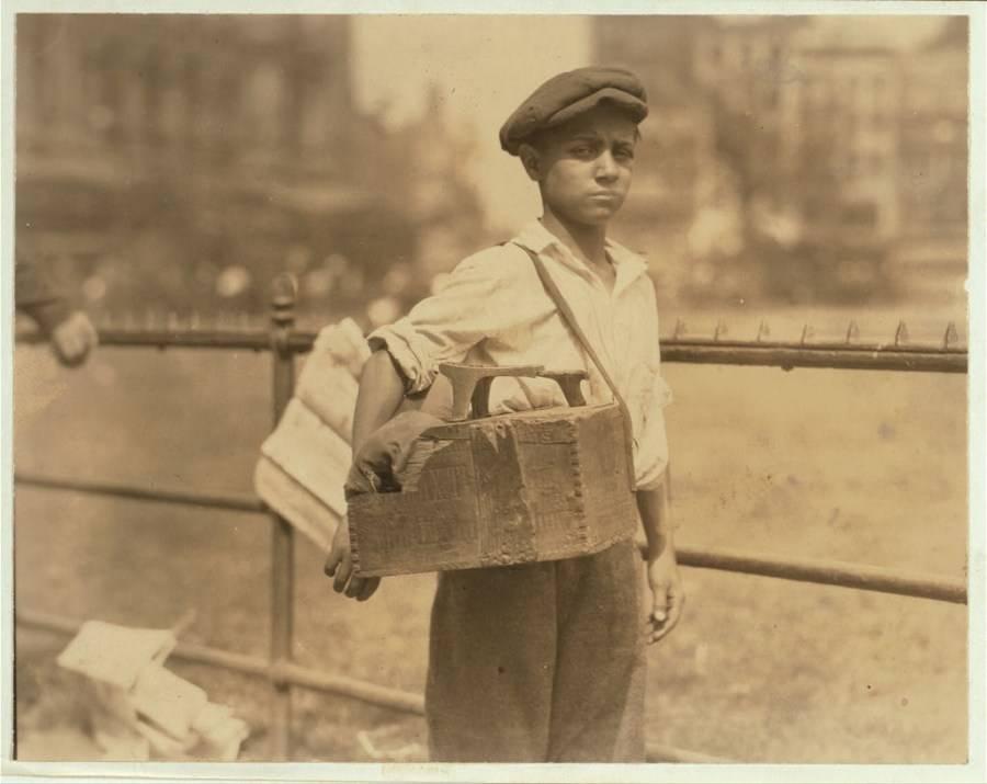 Shoeshine Boy With Shine Box