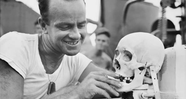 American Sailors With A Skull Trophy