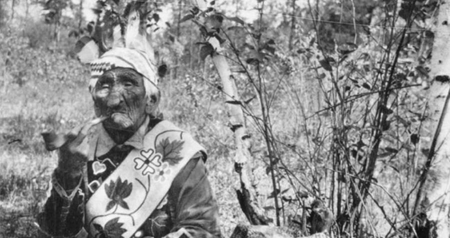 John Smith In Traditional Chippewa Clothing