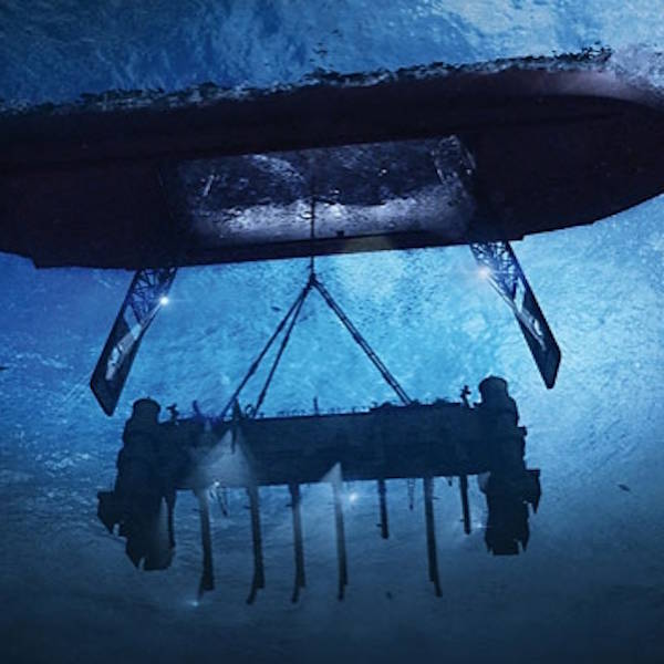 Underwater depiction of the mechanical claw for k-129