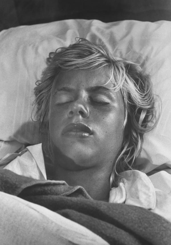 Terry Jo Duperrault recovering in bed