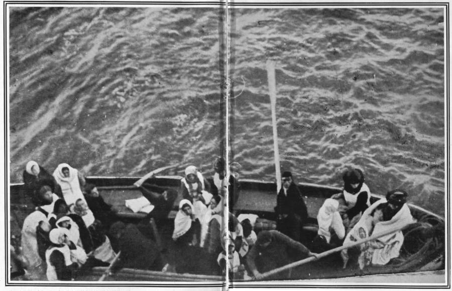 Titanic Survivors Being Rescued