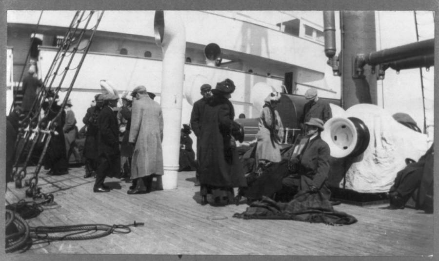 Titanic Survivors On Deck