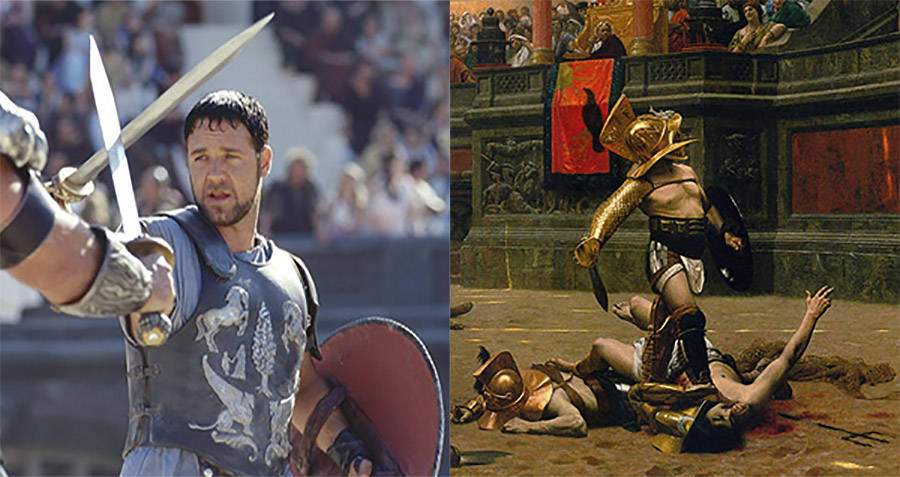 Tragic movies, Russell Crowe in Gladiator