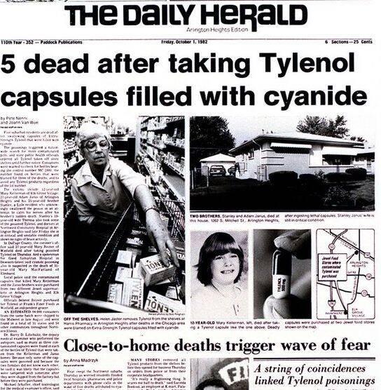 Tylenol Murders Headlines