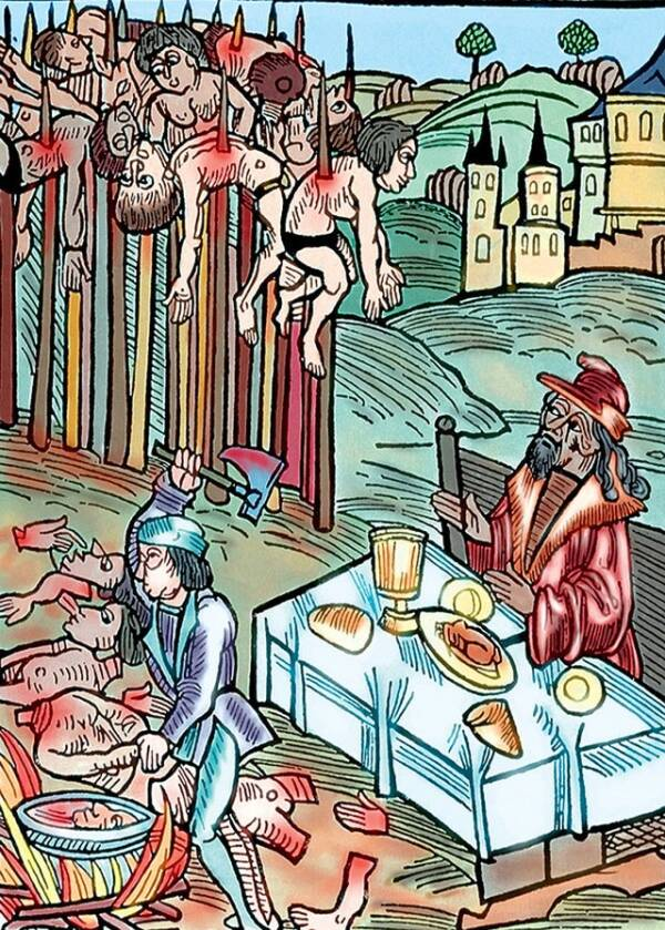Vlad Tepes Eating Human Flesh