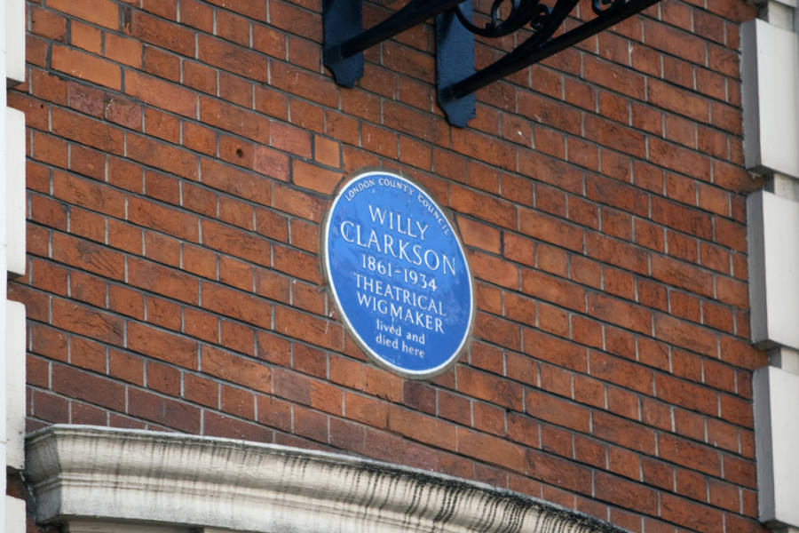Willy Clarkson Plaque Blue