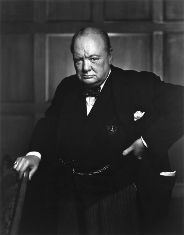 Winston Churchill Glare