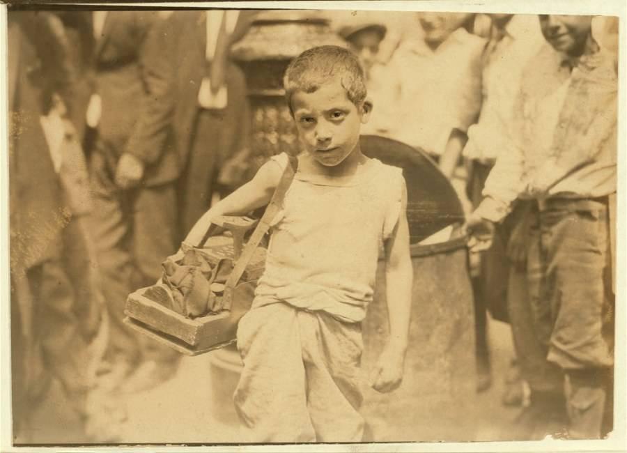 Young Shoeshine Boy