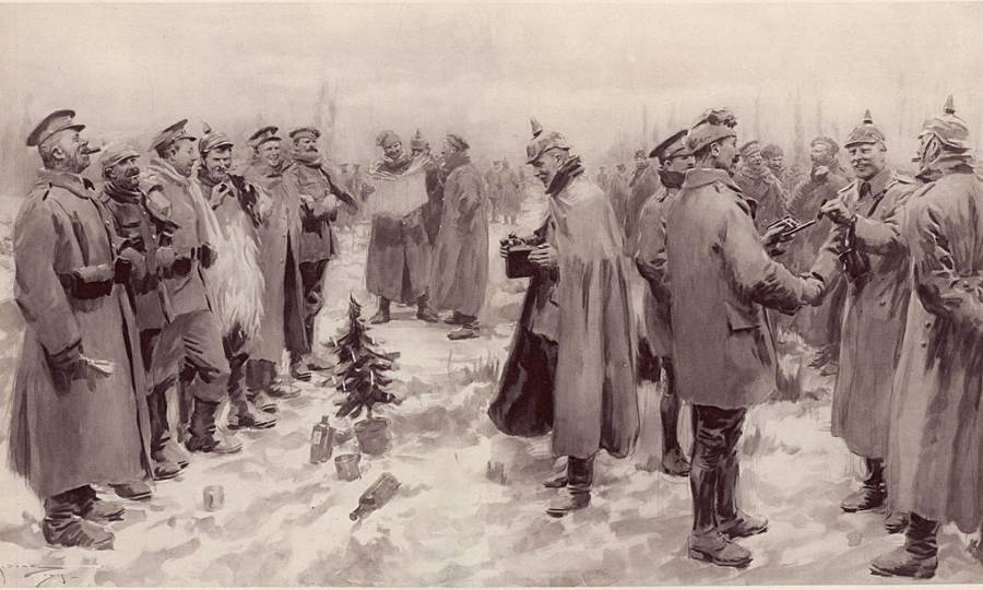 The Christmas Truce Illustration