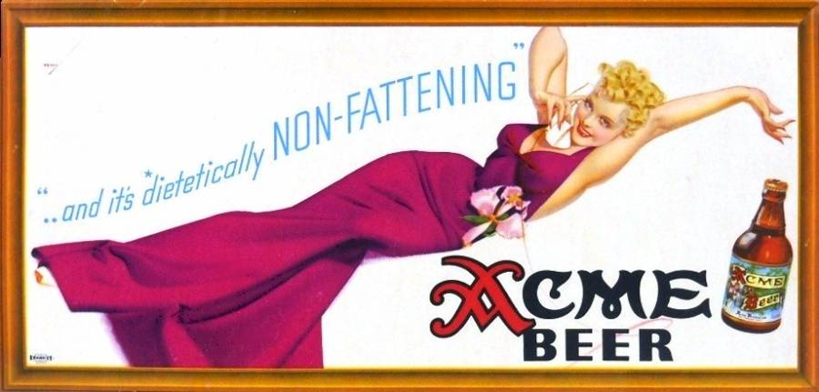 Acme Non Fattening Beer Ad