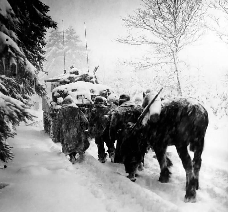 U.S. airborne division in the snow