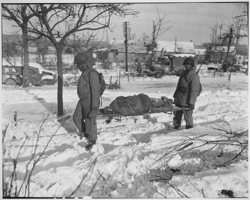American Soldier On Stretcher