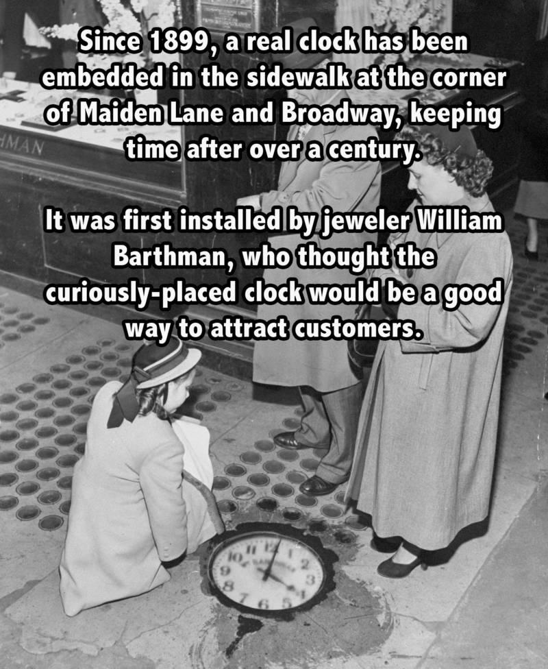 Barthman Clock in NYC ground