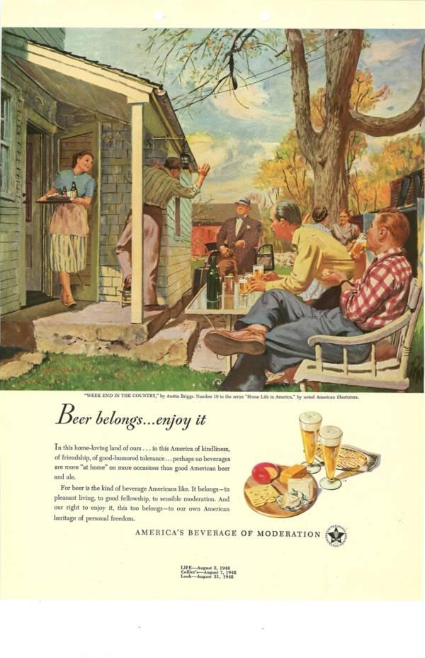 Vintage Beer Advert