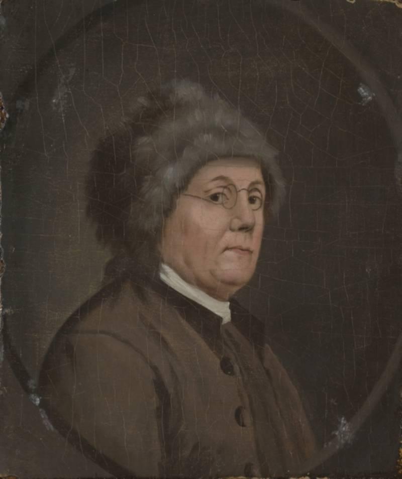 Ben Franklin Wearing Fur Cap