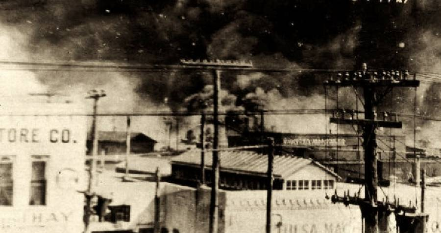 Smoke during the Tulsa race riot