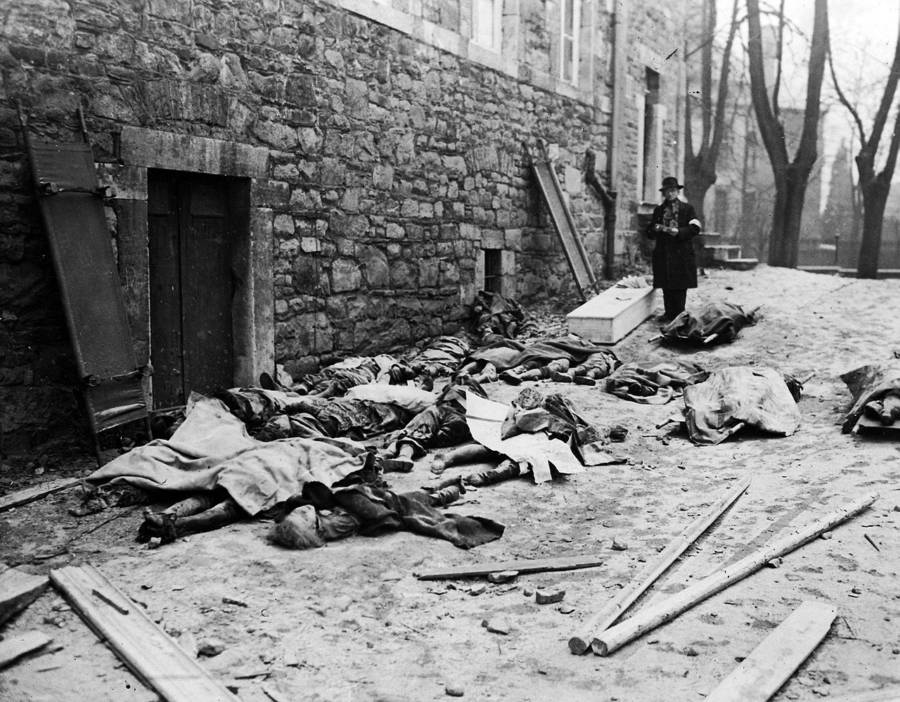 Bodies of murdered Belgians