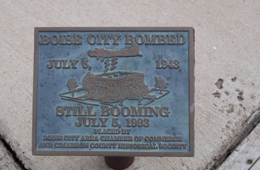 Boise City Bronze Plaque