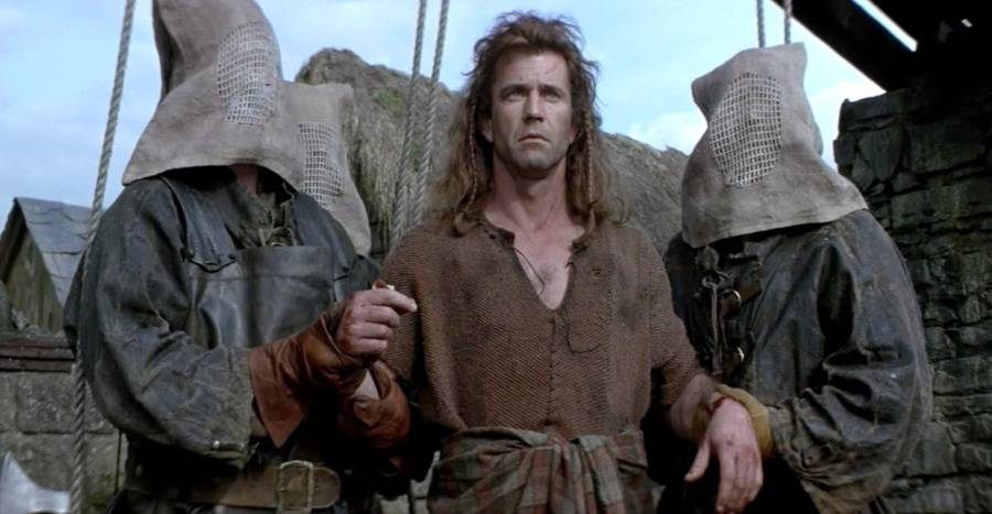 William Wallace about to be killed in Braveheart