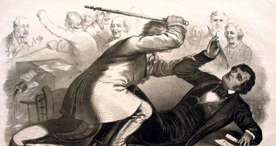 Preston Brooks Caning Charles Sumner