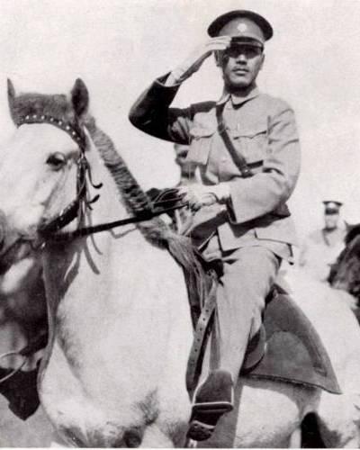 Chiang Kai Shek On Horseback