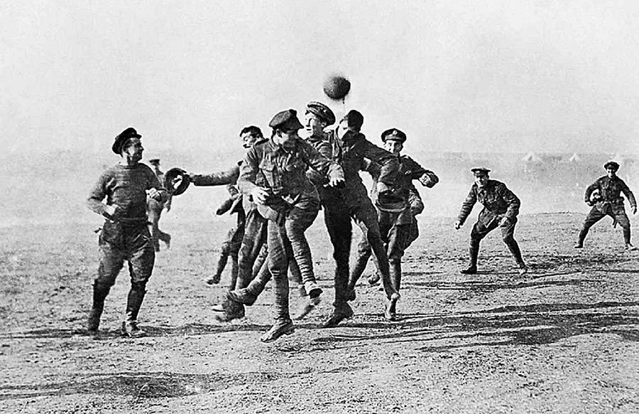 Christmas Truce Soccer Game Photograph