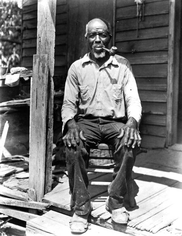 Cudjo Lewis On His Porch