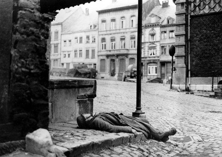 Dead German Soldier In Belgium