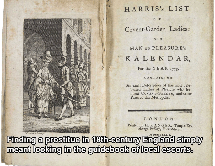 Escort Book In 18th Century England