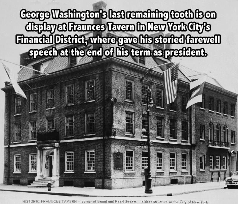 George Washington Tooth New York Facts