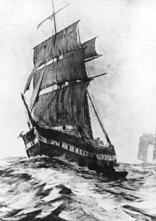 Ghost Ship Mary Celeste drawing