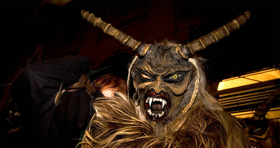 Hand Carved Krampus Mask