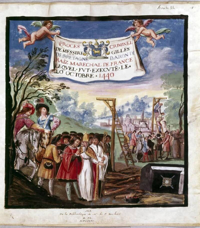 Hanging Of Gilles De Rais