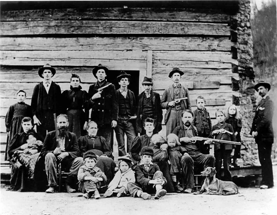 Hatfields And McCoys Feud Group Photo